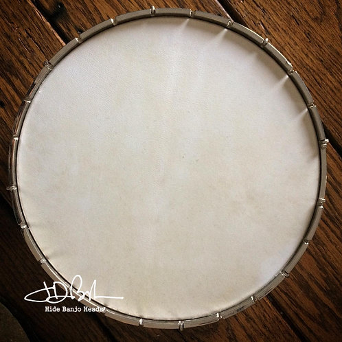 """WHITE ~SPECIAL Select ~goat hide pre-mounted head 11"""" sixe"""