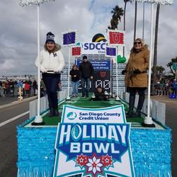 SDCCU Holiday Bowl Parade Float