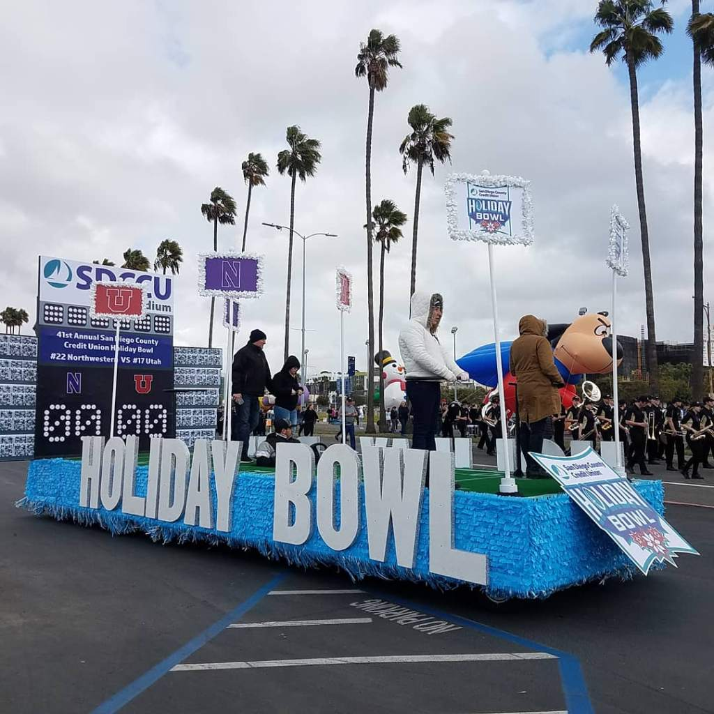SDCCU Holiday Bowl Parade Float