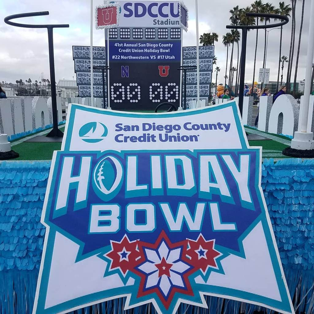 SDCCU's Holiday Bowl Parade Float