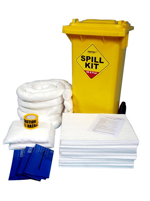 OIL & FUEL WHEELIE BIN SPILL KIT