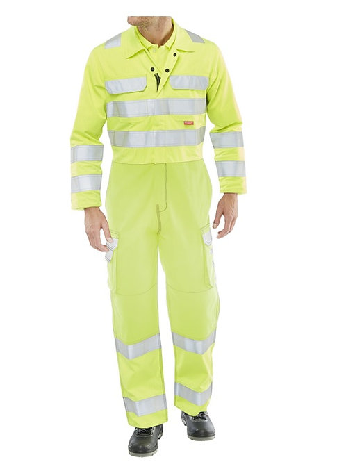 HI VIS YELLOW COVERALL