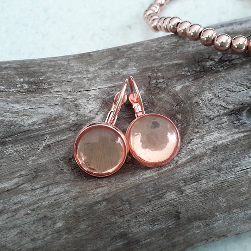 Rose gold dome ear rings