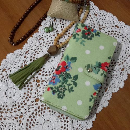 Green oilcloth wallet