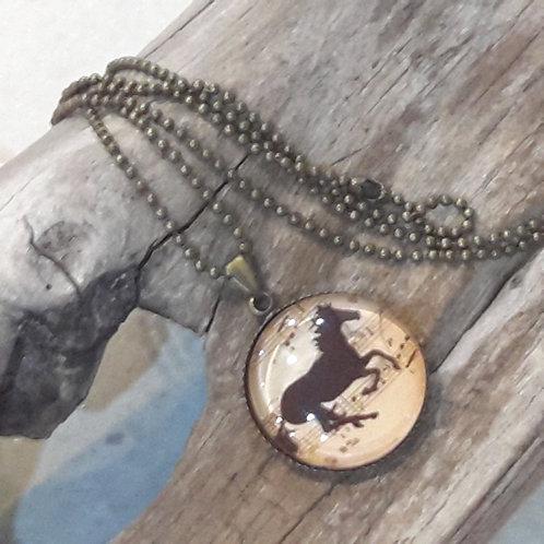 Horse dome pendant