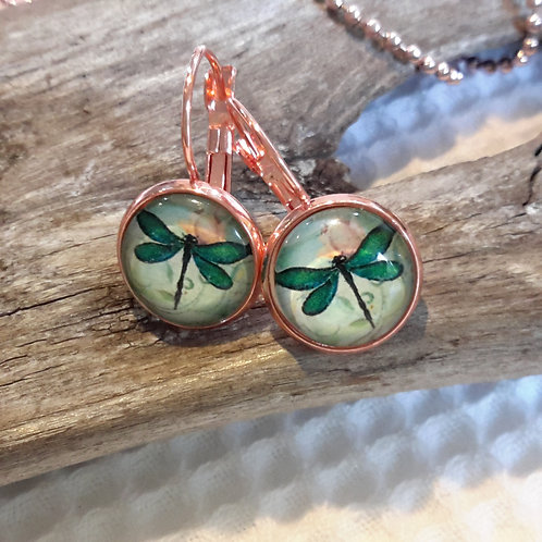 Dragonfly ear rings