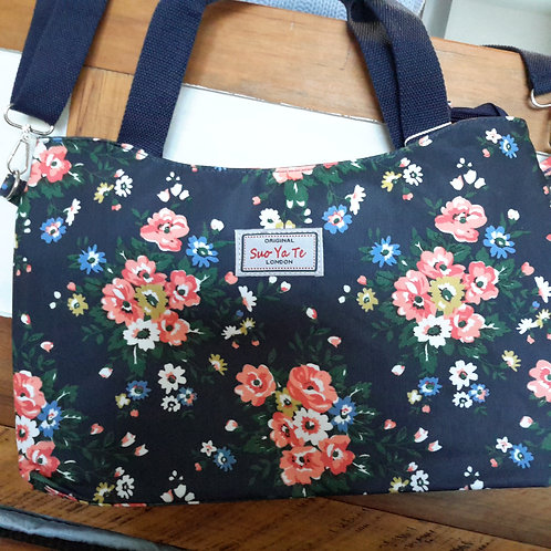 Floral oilcloth bags