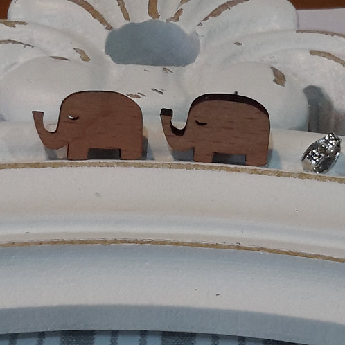 Wooden elephant studs