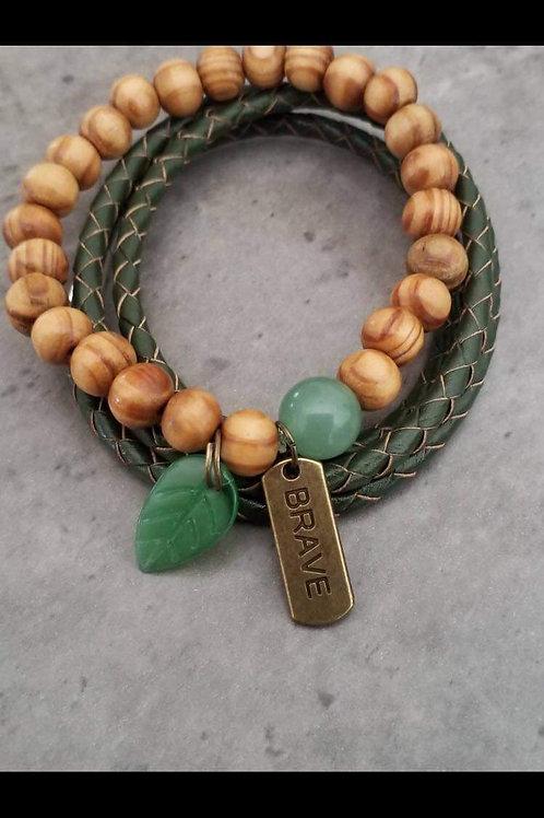 Sage green bracelet set