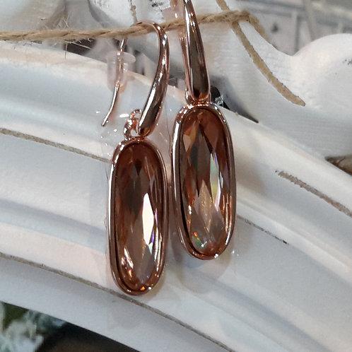Rose gold diamante earrings