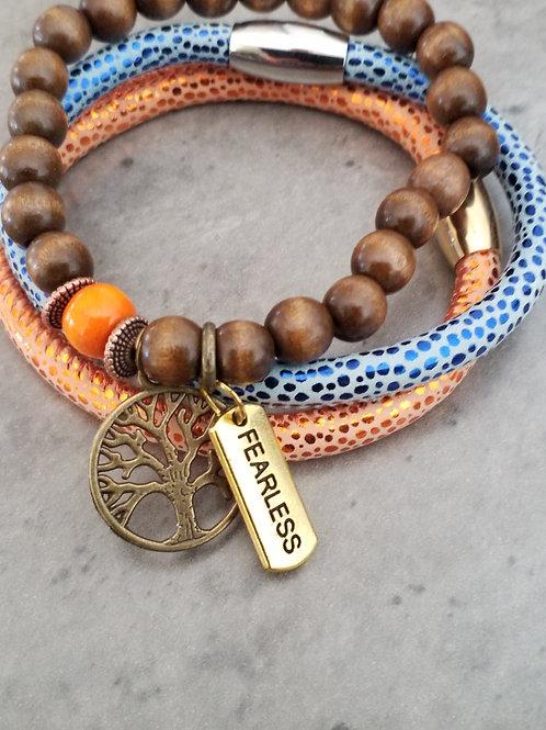 Orange bracelet set