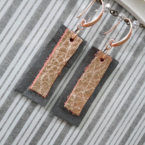 Leather ear rings
