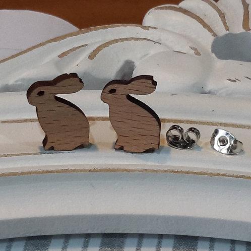 Wooden bunny studs