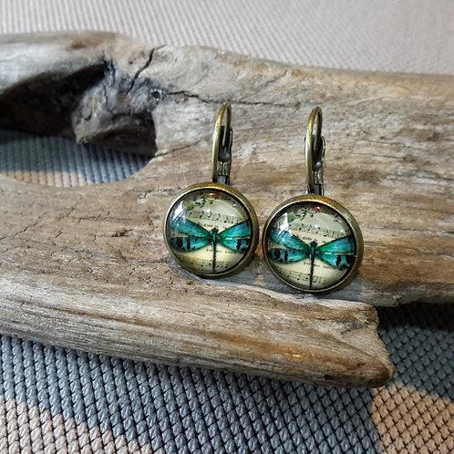 Dragonfly ear rings