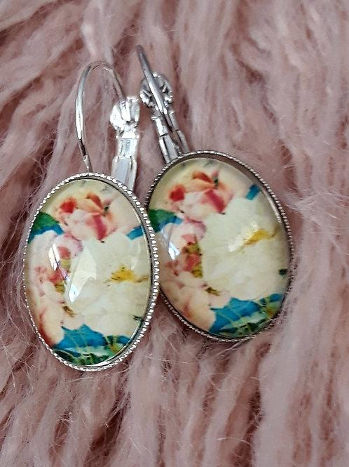 Vintage rose ear rings