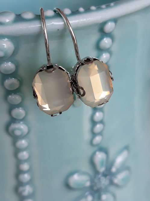 Lemon diamante ear rings