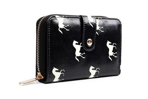 Small oilcloth horse wallet