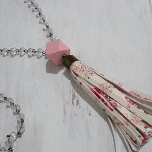 Floral tassel necklace