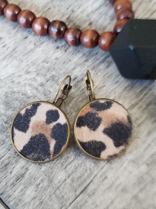 Leopard print ear rings