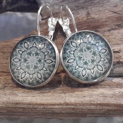 Mandala ear rings