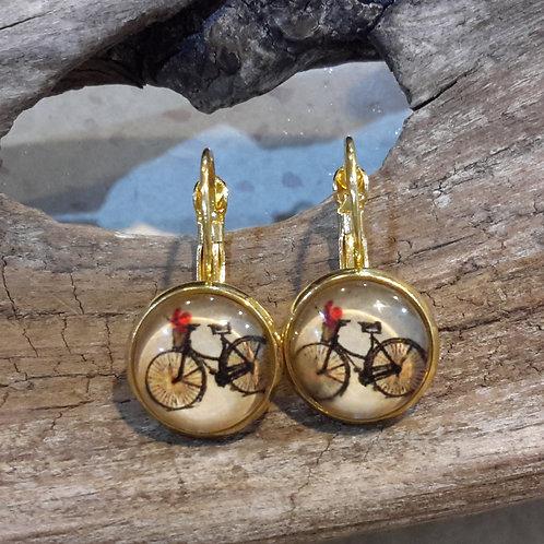 Vintage bike ear rings