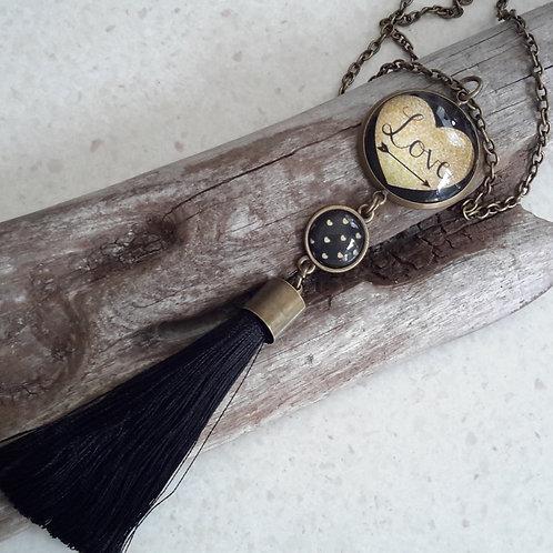2 tiered love pendant
