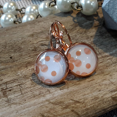 Rose gold bubbles ear rings