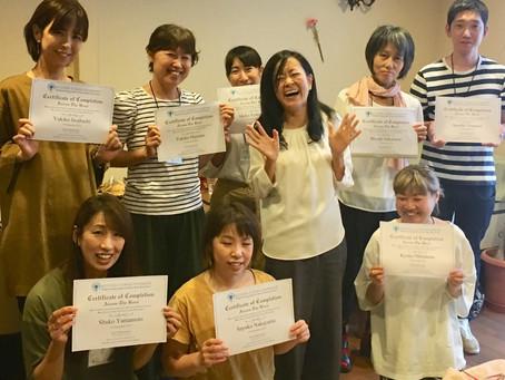 8名の新プラクティショナーさん誕生in和歌山・岩出
