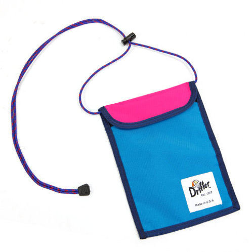 NECK POUCH - AQUA X HOT PINK