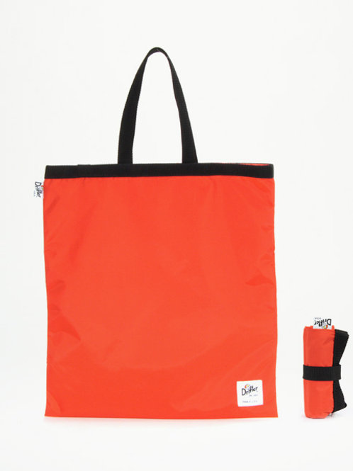 FOLDAWAY TOTE - ORANGE + BLACK