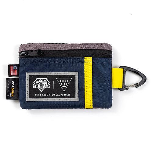 Fairfax X Pack N Go Key Coin Pouch (NAVY x YELLOW x COAL)