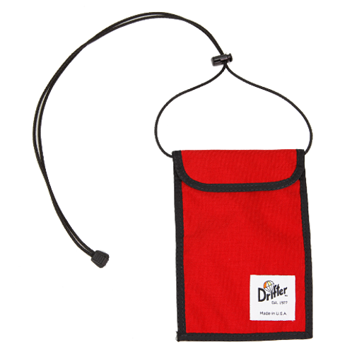 NECK POUCH - BURN RED