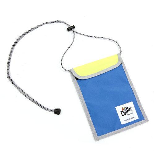 NECK POUCH - SLATE BLUE X FL YELLOW
