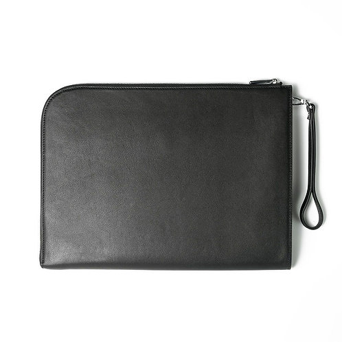 Maverick & Co. BLACK ATLAS L-SHAPED CLUTCH