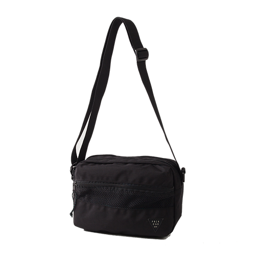 PACK N GO TRAVEL SHOULDER BAG - BLACK