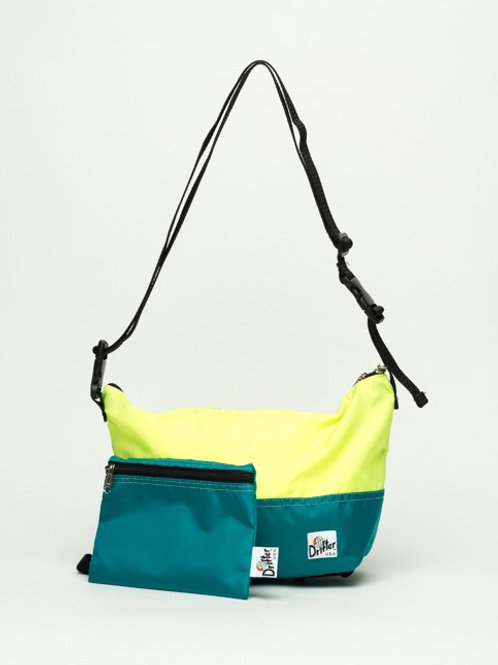 ARE WAY POUCH SMALL  - FL YELLOW X TURUOISE