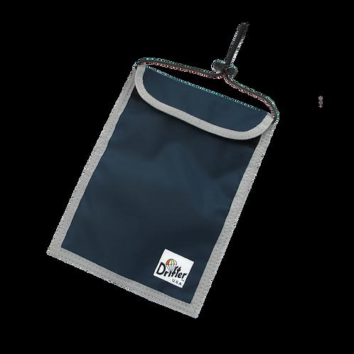 Drifter Neck Pouch - Navy x Sliver (420D Pack Cloth)