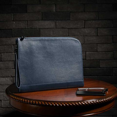 Maverick & Co. NAVY ATLAS L-SHAPED CLUTCH