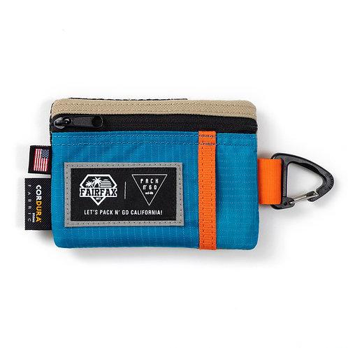 Fairfax X Pack N Go Key Coin Pouch (SKY BLUE x MANDRIN x CAVE)