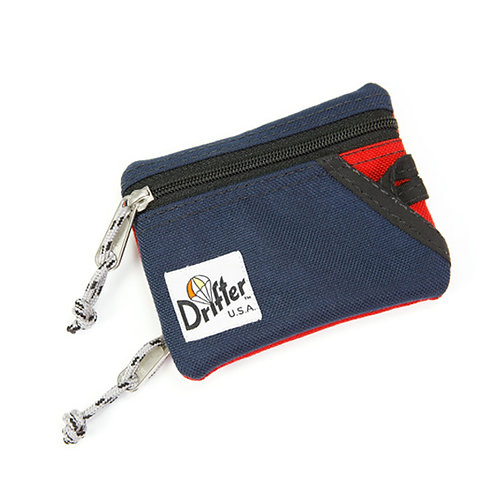 KEY COIN POUCH - Navy x Red