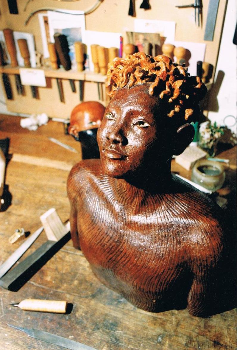 1990 Frédéric commence la sculpture