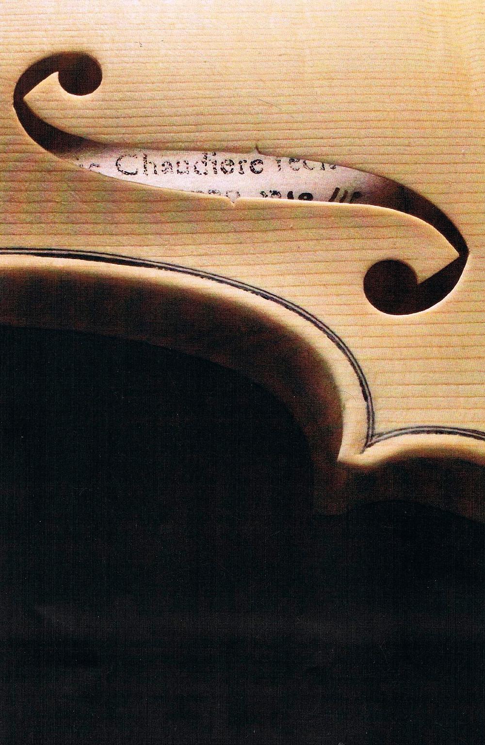 Etiquette violon Frédéric Chaudière © F Chaudiere