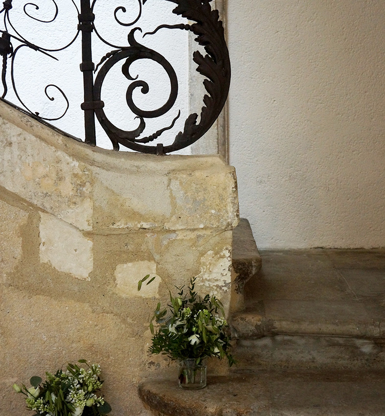Déco escalier Hôtel Magnol