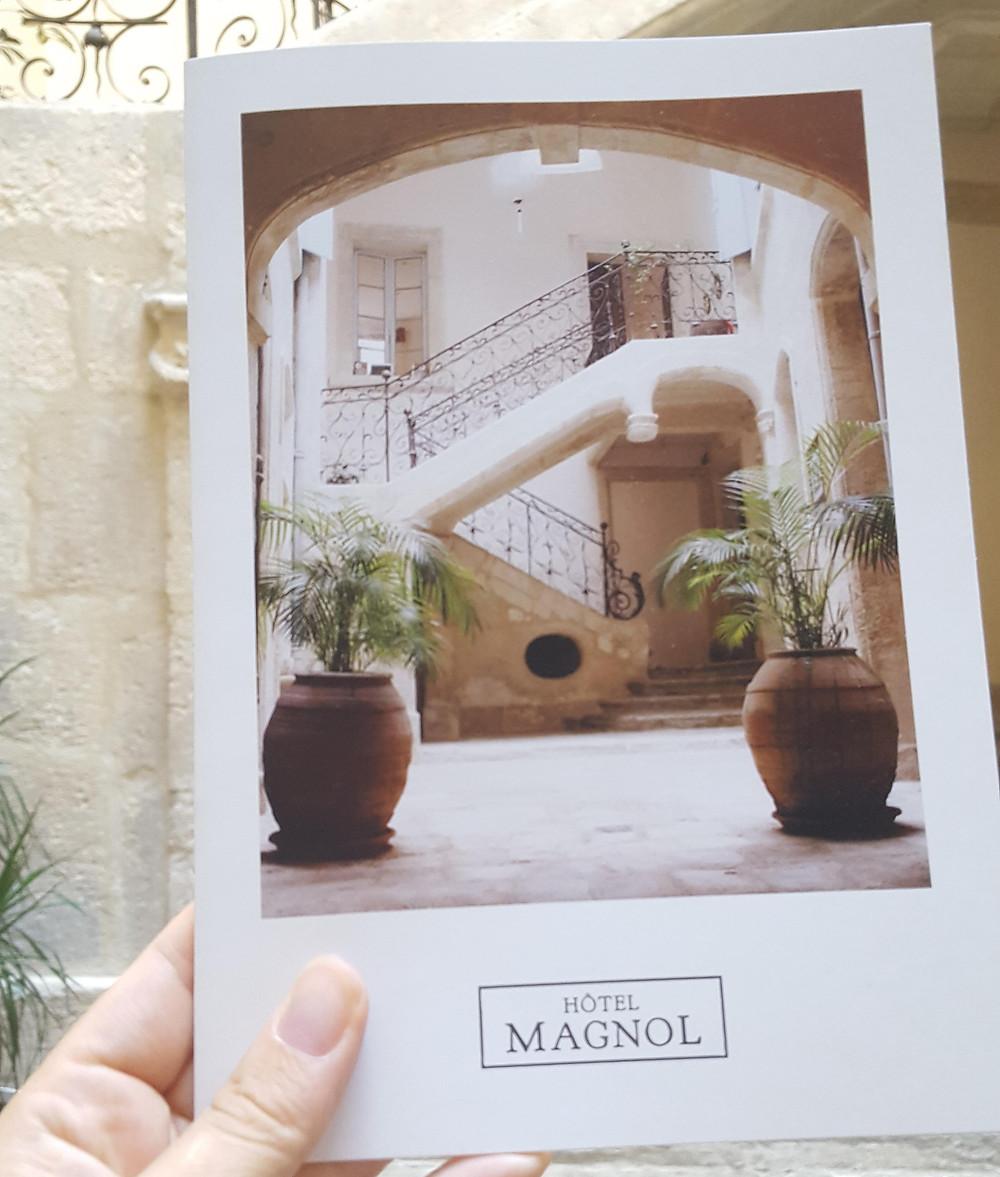 Livret de l'Hôtel Magnol
