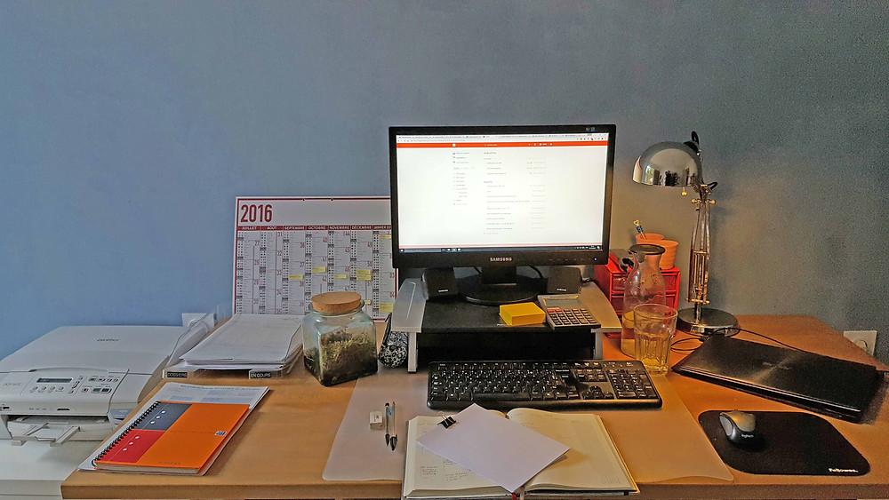Mon bureau bien rangé !