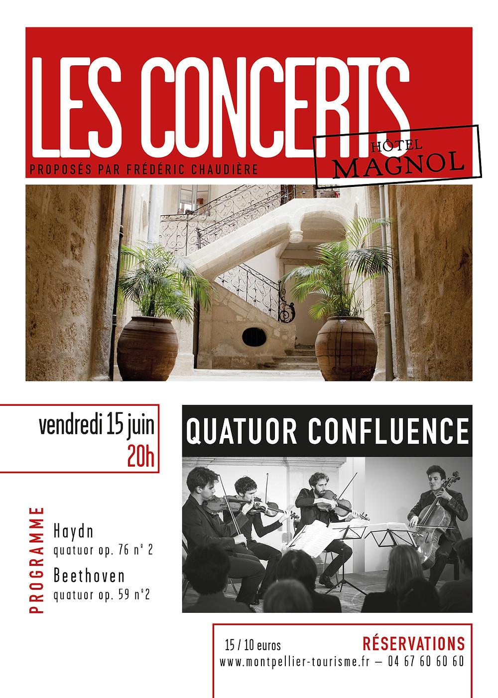 Concert Quatuor Confluence Montpellier © Hôtel Magnol