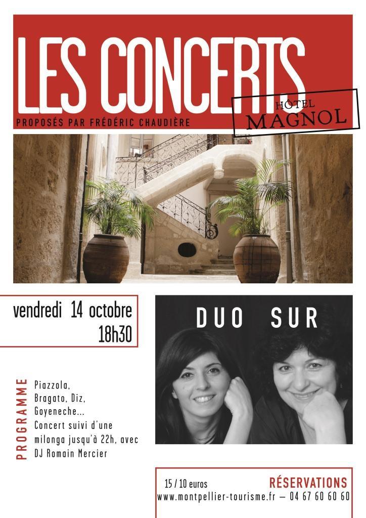 Affiche Concert de Magnol, Duo Sur, 14.10.16