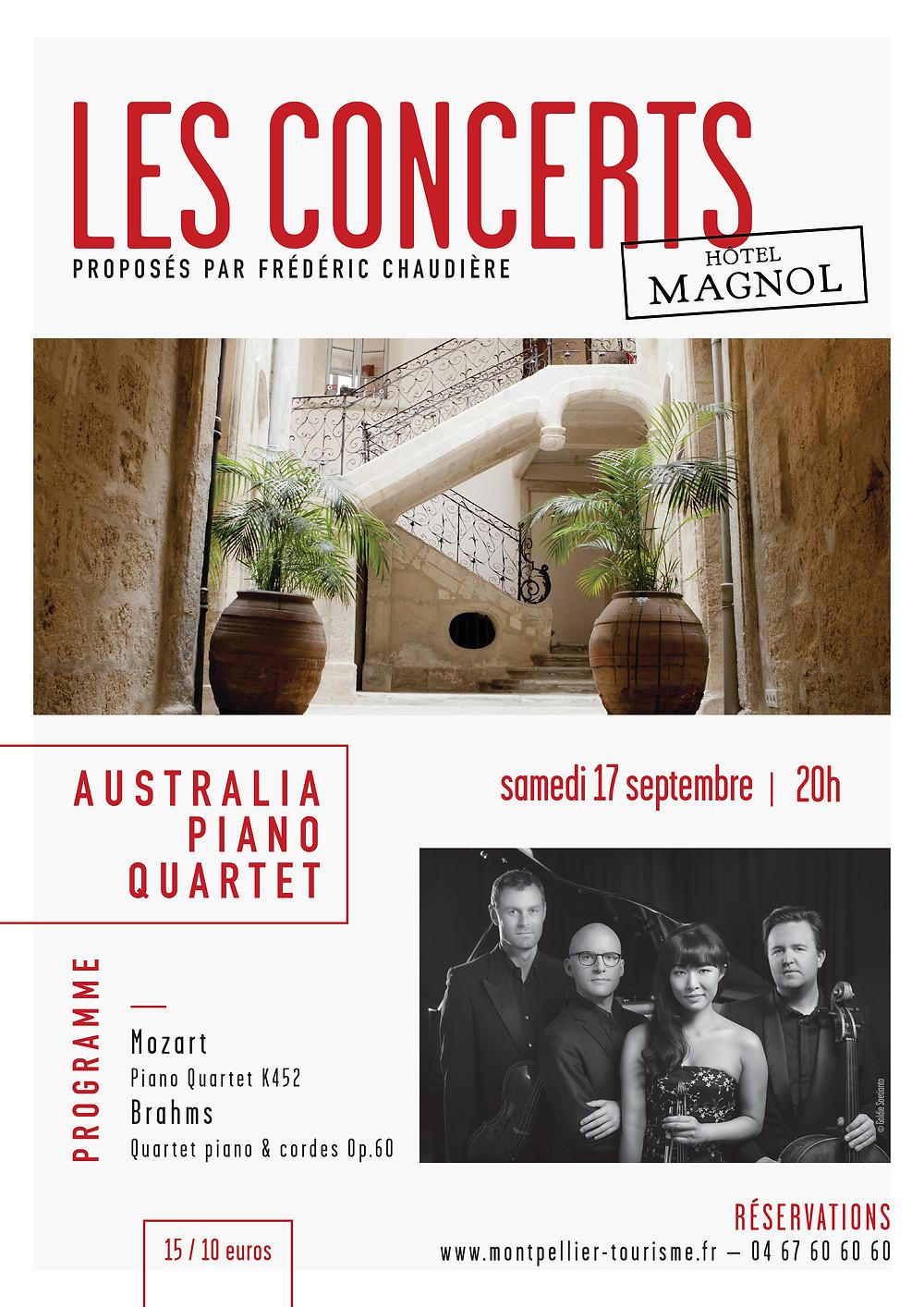 Affiche Les Concerts de Magnol 17.09.16 © Hôtel Magnol