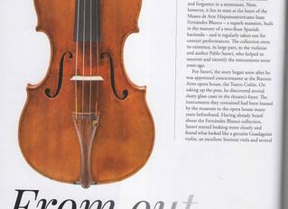 """Article """"The Strad"""" magazine - """"Blanco"""" Del Gesu"""