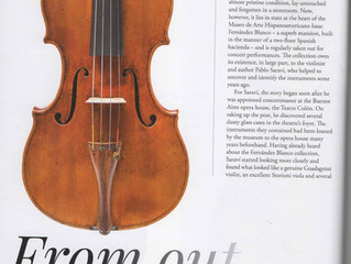 "Article ""The Strad"" magazine - ""Blanco"" Del Gesu"